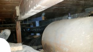Oil tank under house