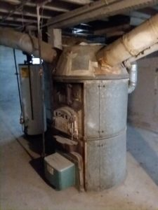 An old 'octopus' furnace could have been converted from sawdust to heating oil