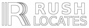 Logo for Rush Locates, underground locating service - get an oil tank search or private utility locate with Rush Locates