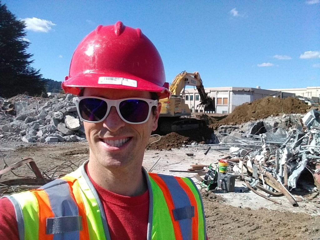 Photo of Jack from Rush Locates doing commercial jobsite private utility location