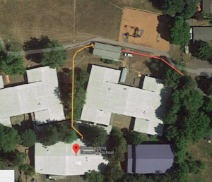 site map of locates done at Lewelling Elementary School