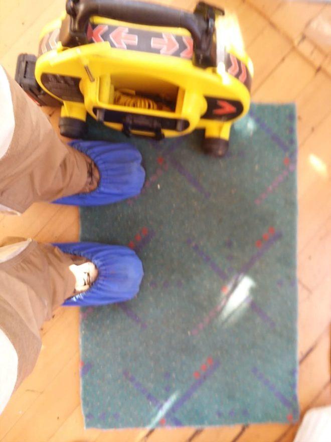The portland airport carpet as a doormat